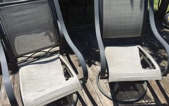 Replacing/repairing dryrotted fabric on outdoor furniture