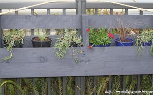 upcycled pallet hanging planter box, container gardening, gardening, how to, pallet, repurposing upcycling, woodworking projects