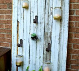 outdoor mason jar candle barn door doors how to mason jars outdoor & Outdoor Mason Jar Candle Barn Door | Hometalk