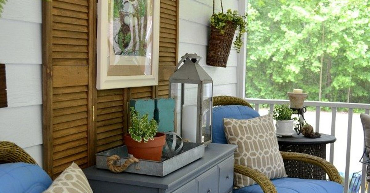 Summer Porch Decorating Ideas Diy: A Southern Screened Porch Decor Update
