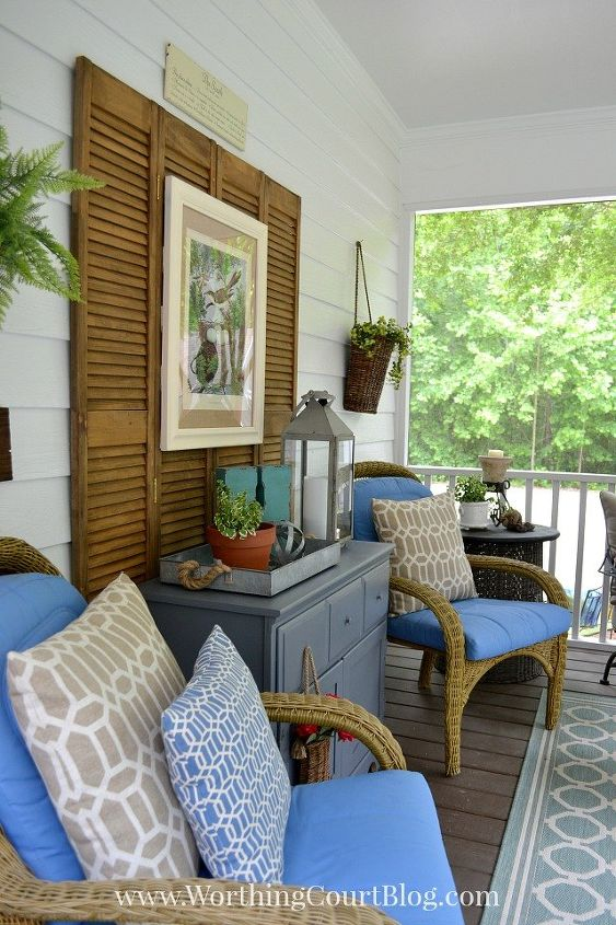 A Southern Screened Porch Decor Update Chalk Paint Outdoor Furniture Living