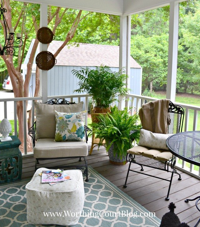 a southern screened porch decor update chalk paint outdoor furniture outdoor living - Outdoor Screened Porches