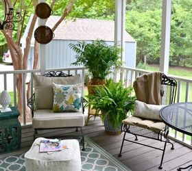 A Southern Screened Porch Decor Update, Chalk Paint, Outdoor Furniture,  Outdoor Living,