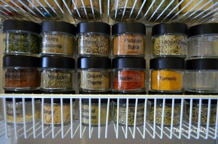 organizing spices herbs, organizing, storage ideas