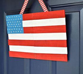 wood shim door flag crafts how to patriotic decor ideas seasonal holiday & Wood Shim Door Flag | Hometalk