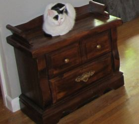 repurposed end table to hidden litter box painted furniture pets animals repurposing upcycling & Repurposed End Table to Hidden Litter Box | Hometalk Aboutintivar.Com