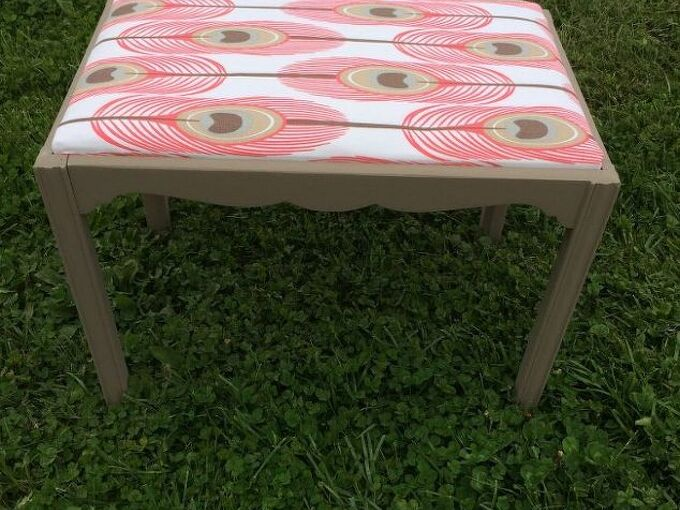 quick easy upholstered bench, painted furniture, reupholster