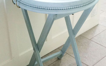 refinished tray table, chalk paint, painted furniture