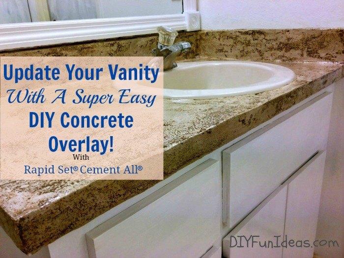 Concrete Overlay Vanity Makeover