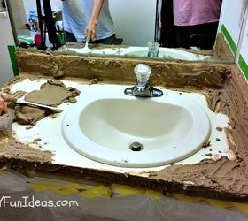 Beau Super Easy Concrete Overlay Vanity Makeover, Bathroom Ideas, Concrete  Masonry, Concrete Countertops,