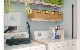 laundry room closet makeover, closet, laundry rooms, organizing