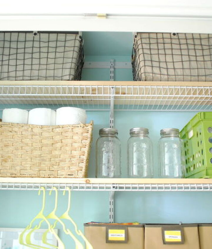 laundry room closet makeover, closet, laundry rooms, organizing