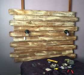 turned fence boards into a shabby chic headboard bedroom ideas fences painted furniture