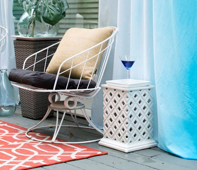 outdoor cabana curtains for cheap, crafts, how to, outdoor living, painting, repurposing upcycling, reupholster