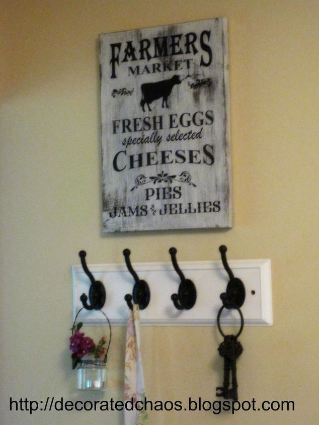 farmouse kitchen sign tutorial, crafts, how to, kitchen design, wall decor