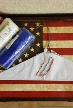 patriotic wreath hack, crafts, how to, patriotic decor ideas, repurposing upcycling, seasonal holiday decor, wreaths