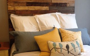 pallet headboard, painted furniture, pallet, repurposing upcycling, woodworking projects