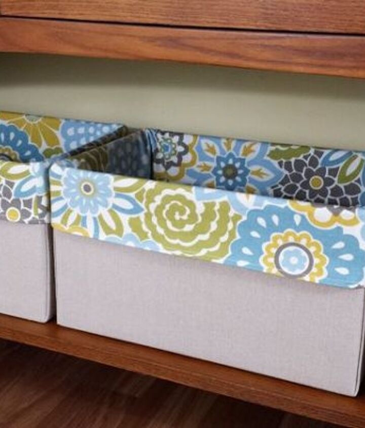 from diaper box to stylish storage, organizing, repurposing upcycling, storage ideas