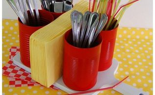 tin can tool caddy, crafts, how to, repurposing upcycling