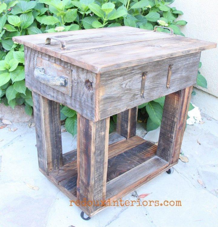 upcycled junk table with old wood overlay hometalk. Black Bedroom Furniture Sets. Home Design Ideas