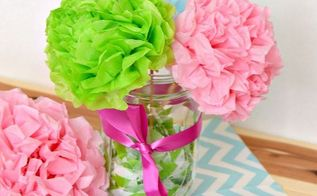 easy tissue paper flowers, crafts, how to