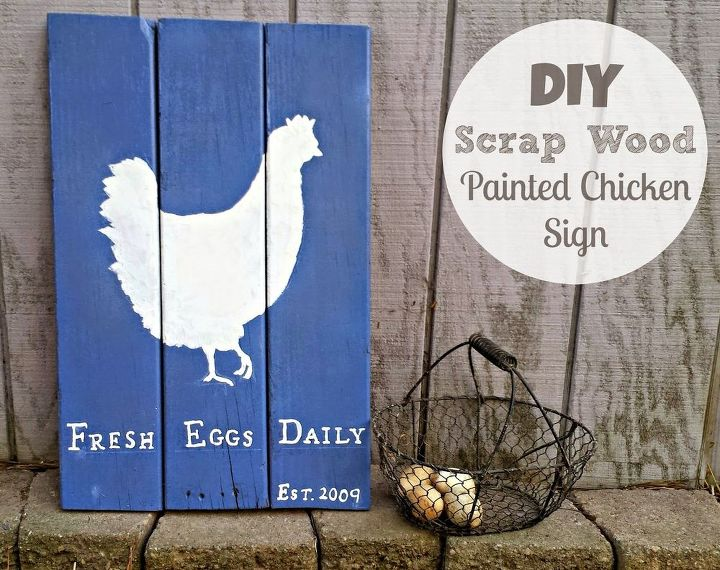 diy repurposed scrap wood painted sign, crafts, how to, woodworking projects