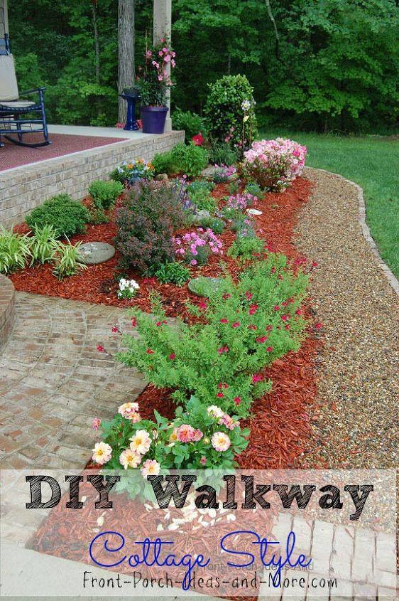 DIY Gravel Walkway Tutorial | Hometalk on gravel gardening ideas, gravel front yard landscaping ideas, gravel fire pit ideas,