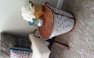 decor steals olive bucket hack, painted furniture, repurposing upcycling