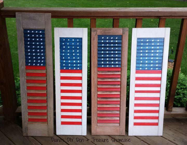 easy shutter flag, crafts, patriotic decor ideas, repurposing upcycling, seasonal holiday decor