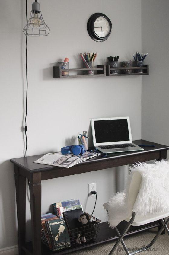 desk organizer with ikea spice racks, home office, organizing, repurposing upcycling, storage ideas