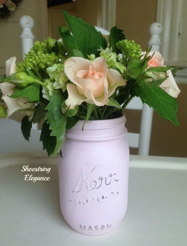 Diy Chalk Painted Mason Jars As Vases Hometalk