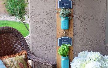 rustic diy mason jar herb garden, container gardening, gardening, mason jars