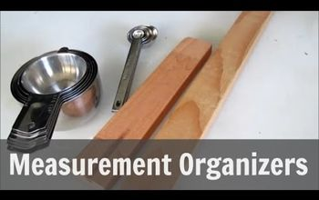 make magnetic measurement organizers, how to, kitchen design, woodworking projects