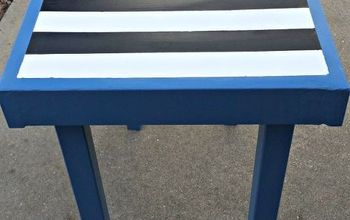 my first kreg jig project an easy scrapwood striped table, diy, how to, painted furniture, woodworking projects