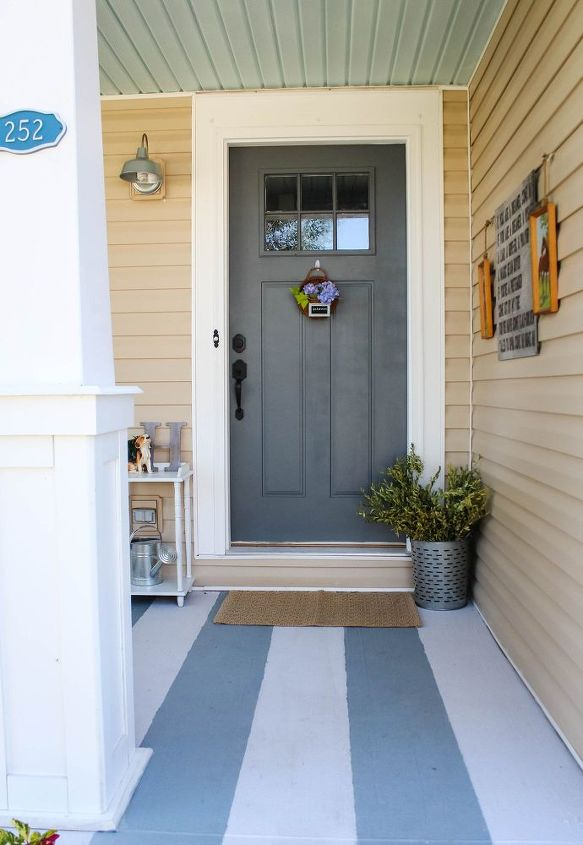 front porch makeover hometalk. Black Bedroom Furniture Sets. Home Design Ideas