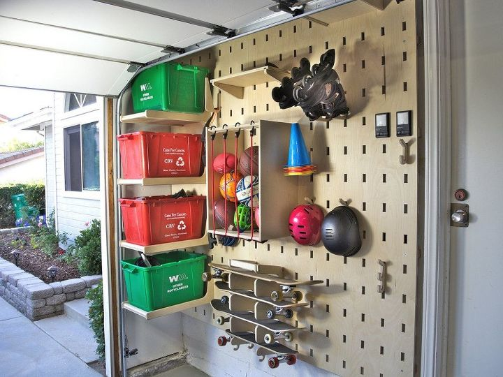 garage slot wall, garages, storage ideas, woodworking projects