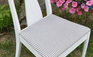 farmhouse style chair makeover, chalk paint, painted furniture, repurposing upcycling, reupholster, After