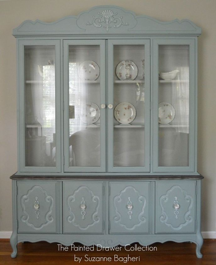 Vintage Bassett China Cabinet Gets A New Life Painted Furniture Repurposing Upcycling