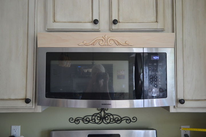 easy and affordable diy tuscan microwave hood vent update, appliances, how to, kitchen design