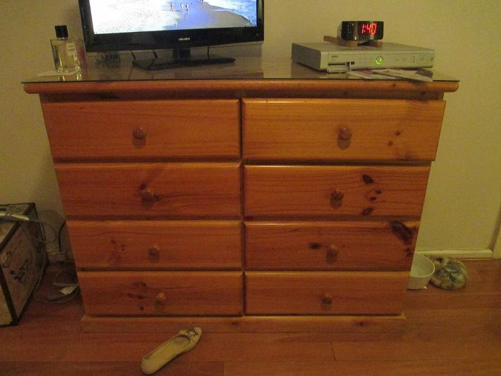 q updating aged pine furniture, painted furniture, repurposing upcycling