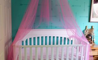 how to make a crib canopy out of tulle, bedroom ideas, how to, reupholster