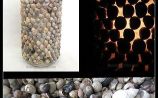 diy shell hurricane lamp, crafts, how to, lighting, repurposing upcycling