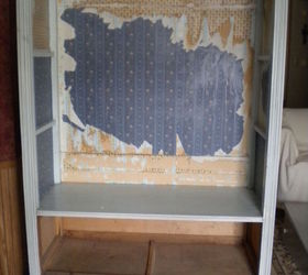Q How To Remove Wallpaper On Cabinet Inside, Home Improvement, Kitchen  Cabinets, Kitchen
