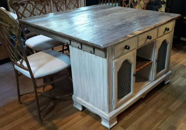 From Buffet to Rustic Kitchen Island | Hometalk