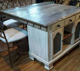 From Buffet To Rustic Kitchen Island, Kitchen Design, Kitchen Island,  Painted Furniture, ...