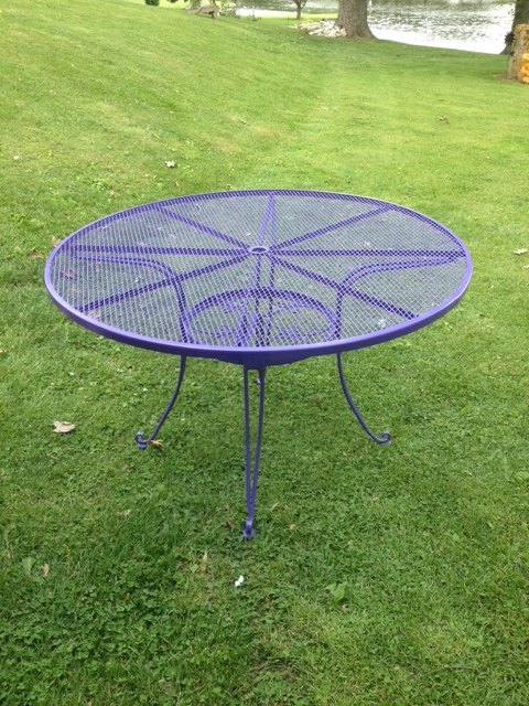 i have the spray painting fever, gardening, outdoor furniture, outdoor living, painted furniture