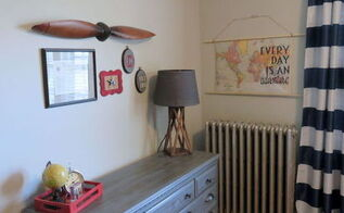 vintage airplane kid bedroom makeover, bedroom ideas