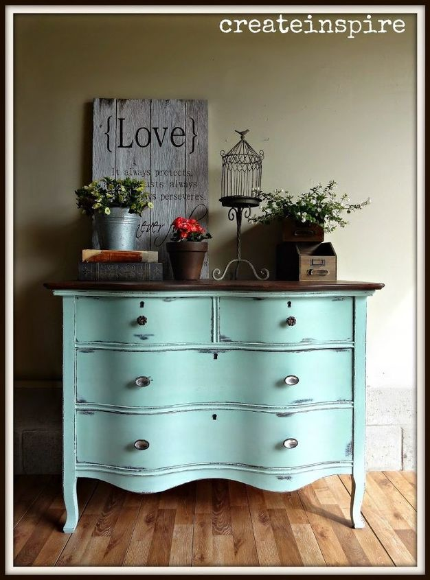 antique serpentine dresser, painted furniture, repurposing upcycling - Antique Serpentine Dresser Hometalk