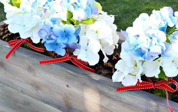 Patriotic Red, White and Blue Centerpiece
