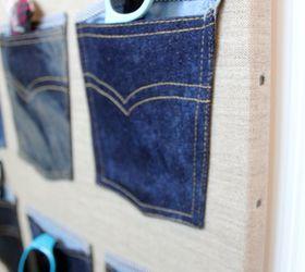 Denim Organizers For Boys Accessories, Bedroom Ideas, Closet, Organizing,  Repurposing Upcycling,